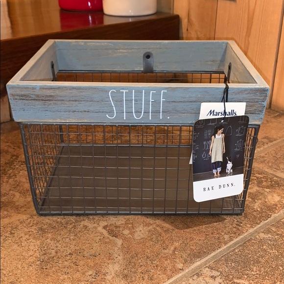 "Rae Dunn ""Stuff"" Wire Basket"